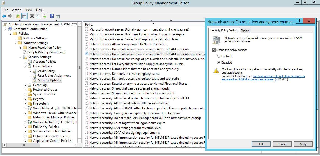 gpedit windows 7 limit user accounts
