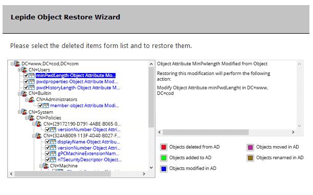 Lepide Object Restore Wizard