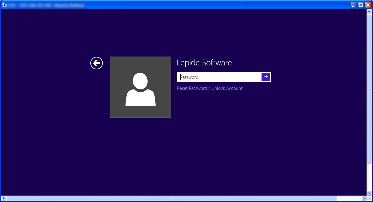A lockout screen demonstrating that users can reset their passwords even when lockout out