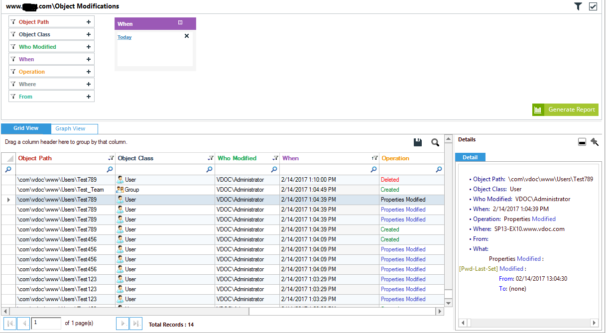 how to track changes made to active directory using native auditing