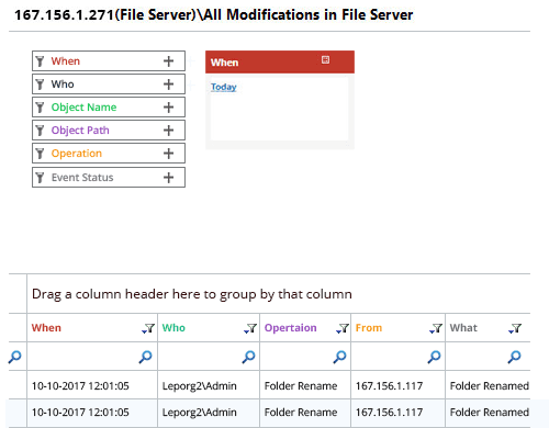 File Server Auditing Solution to Audit and Report File