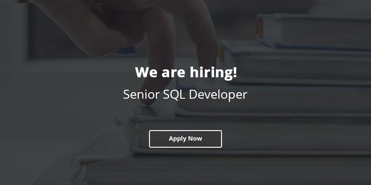 Job Opening for Senior SQL Developer